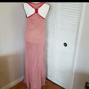 Juicy Couture Dresses - Juicy Couture Red/White Striped Maxi Dress